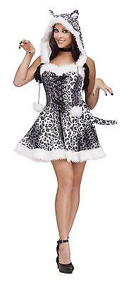 Adult Sexy Snow Leopard Animal Costume Halloween - Exotic Cat Costume