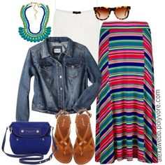 """""""Summer Maxi Skirt - Plus Size"""" by alexawebb on Polyvore"""