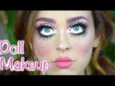 Last Minute Doll Makeup Tutorial Cute Doll Makeup, Creepy Doll Makeup, Broken Doll Makeup, Doll Eye Makeup, Zombie Makeup, Skull Makeup, Creepy Doll Halloween Costume, Diy Doll Costume, Scary Dolls