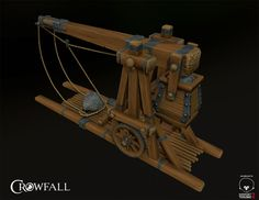 Crowfall game, ballista 3D model. You can see more on https://crowfall.com/ #Crowfall  #gaming #MMO #PvP #MMORPG #RPG #multiplayer #online #PC #ballista #siege #3D #art #screenshot