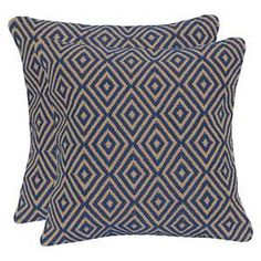 Diamond Jute & Cotton Throw Pillow with Canvas Back : Target