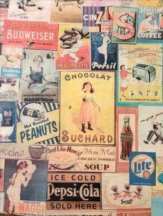 Individuell gestalteter Stuhl : Alte Werbeplakate