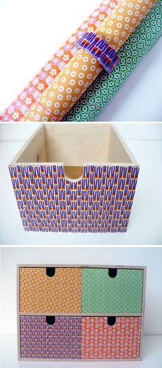 upgraded ikea moppe mini drawer / diy / paper / masking tape / rie elise larsen