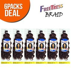 FreeTress Synthetic Hair Crochet Braids Natural Deep 10 (6-Pack, 1) *** This is an Amazon Affiliate link. For more information, visit image link.