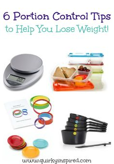 Portion control tips to help you meet your weight loss goals. Great, real life tips to help you on your journey