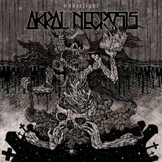"ENGLISH Romanian black metal band Akral Necrosis will release their new album ""Underlight"" on October The new album is the second. Capital Of Romania, Metal Bands, Black Metal, Album Covers, Artwork, Music, Rock, Cover Pages, Musica"
