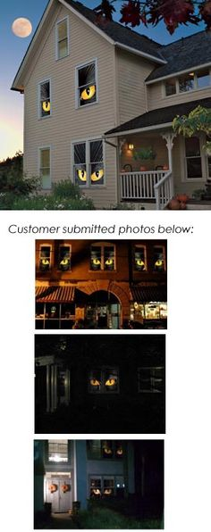 Spider and Cat Eyes Window Clings, Halloween Window Clings, WOWindow Posters