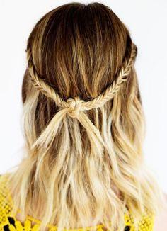 Прическа на 1 сентября - косички, соединенные узелком ::: onelady.ru ::: #hair…