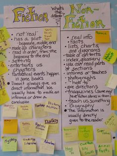 Great visual teaching kids the difference between fiction and nonfiction.