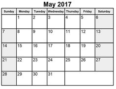May Calendar  Free Printable  Calendars