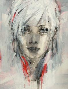 Bright Eyes - canvas by Christine Comyn www.absoluteartgallery.com