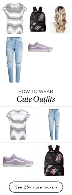 """First day of school outfit ✌"" by madilynmills on Polyvore featuring Vans"