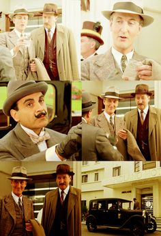 Poirot over-hears Japp's talk on Police work, and is pleasantly surprised when he gets an honorable mention.