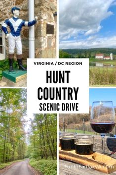 Explore Virginia's Hunt Country on a scenic drive to beautiful farms, small towns, vineyards, orchards, and parks near Washington DC.