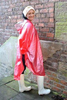 and Rubber outfits Vinyl Raincoat, Blue Raincoat, Girls Wear, Women Wear, Rain Fashion, Capes & Ponchos, Rain Cape, Country Wear, Rain Poncho