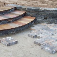 Paver Patio Stairs With Landing   Google Search