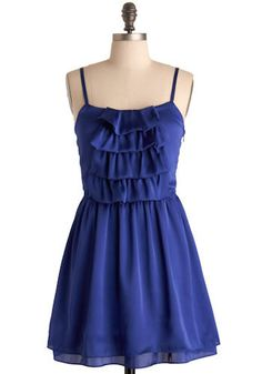 Paradise Falls Dress in Royal Blue. This shining bright blue summer dress is perfect for a day sight-seeing  at the waterfalls or a hot summer evening  of dancing under the stars.  #modcloth