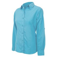 Ladies' River Blue MicroFiber Shirt