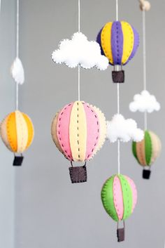 diy baby mobile - how to make your own hot air balloon crib mobile pattern