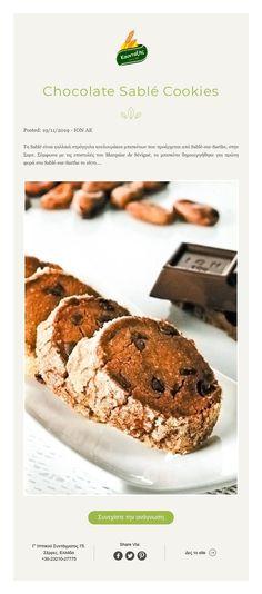 ${contact.Name.First} Chocolate Sablé Cookies Sable Cookies, Biscuits, Chocolate, Crack Crackers, Cookies, Biscuit, Chocolates, Cookie Recipes, Brown
