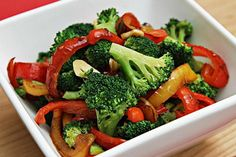 Sautéed Broccoli With Yellow And Red Bell Peppers. Sautéed Broccoli With Yellow And Red Bell Peppe Sauteed Peppers, Sauteed Carrots, Sauteed Vegetables, Fruits And Veggies, Keto Veggie Recipes, Carrot Recipes, Broccoli Recipes, Healthy Recipes, Red Yellow Pepper Recipe