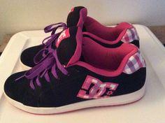 Women's DC Court RS SE Shoes Size: US8.5 Black/Pink/Purple 2012 WORN ONCE! #DCShoes #Skateboarding