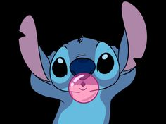 GIFS / stich con chicle BY coralito gamer