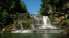 Locals have been coming to this incredible swimming hole for over a century. Cummins Falls is Tennessee's eighth largest waterfall in volume of water. Cummings Falls, Cummins Falls State Park, Largest Waterfall, Swimming Holes, Beautiful Waterfalls, Vacation Spots, State Parks, Tennessee, Most Beautiful