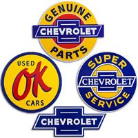 Chevrolet Large Tin Sign Set  http://www.retroplanet.com/PROD/38404
