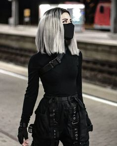 Anime Outfits Female Ninja A Edgy Outfits, Anime Outfits, Mode Outfits, Grunge Outfits, Girl Outfits, Fashion Outfits, Black Outfits, Fashion Boots, Black Outfit Grunge
