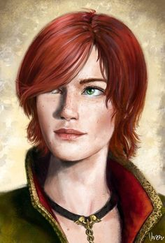 "Shani from ""Heart of Stone"", ""The Witcher"" (polish game - ""Wiedźmin"") The Witcher 3, The Witcher Books, Witcher Art, Fantasy Women, Fantasy Rpg, Medieval Fantasy, Fantasy Portraits, Character Portraits, Character Art"