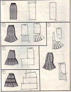 Amazing Sewing Patterns Clone Your Clothes Ideas. Enchanting Sewing Patterns Clone Your Clothes Ideas. Techniques Couture, Sewing Techniques, Skirt Patterns Sewing, Clothing Patterns, Skirt Sewing, Pattern Skirt, Pattern Cutting, Pattern Making, Diy Clothing