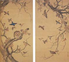 鈴木其一 Kiitsu Suzuki『群禽図』