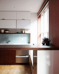 Portland, OR based interior design firm specializing in modern kitchen design with custom cabinetry, commercial and retail interiors, and restaurant design. Modern Condo, Modern Kitchen Interiors, Modern Kitchen Design, Modern Interior Design, Condo Kitchen, Kitchen Remodel, Kitchen Cabinets, Retail Interior, Custom Cabinetry