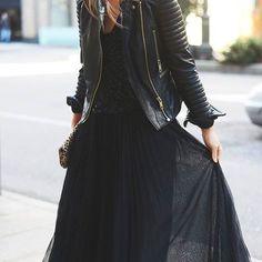 Black Dress & jacket #Fashion #Black #Dress