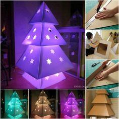 Árbol de Navidad con Cartones (Tutorial) :)
