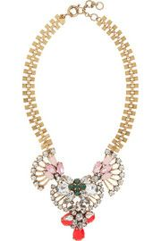 J.Crew Gold-plated cubic zirconia necklace