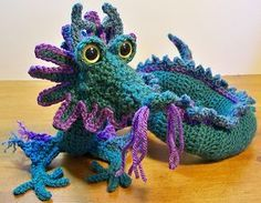 Free Crochet Pattern download : Oriental Dragon