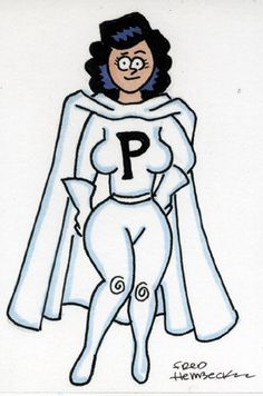Fred-Hembeck-Color-Sketch-Card-Phantom-Girl-1st-outfit-LSH-DC-1-1
