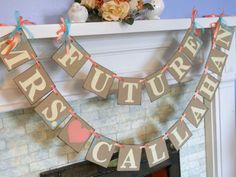 Items similar to Bridal Shower Decorations Bridal Shower Banners Future Mrs. Banner Bachelorette CUSTOMIZE YOUR NAME on Etsy
