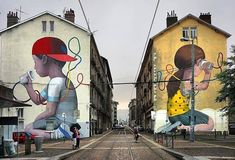 Each month, Street Art Today selects the seven most stunning murals of the past month. In this edition: work by the Grenoble Street Art Festival, Sonny's inspiring project and more! 3d Street Art, Murals Street Art, Urban Street Art, Graffiti Murals, Amazing Street Art, Best Street Art, Street Art Graffiti, Mural Art, Street Artists