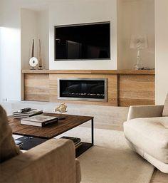 Cute modern light living room interior design