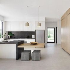 Modern Kitchen Type of Project: Residential Designers: Julia Johnston and Nadia Fitzgerald Location: Denman ACT Completion: June 2017 - Type of Project: Residential Designers: Julia Johnston and Nadia Fitzgerald Location: Denman ACT Completion: June 2017 Best Kitchen Designs, Modern Kitchen Design, Interior Design Kitchen, Kitchen Decor, Decorating Kitchen, Kitchen Ideas, Design Bathroom, Contemporary Interior Design, Luxury Interior Design