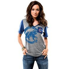 Chicago Cubs Boyfriend Pocket Tee by Majestic | SportsWorldChicago.com  #ChicagoCubs @cubs