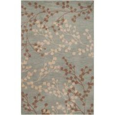 @Overstock - Shy away from solid décor and place this patterned hand-tufted wool rug in your foyer. This plush rug has a delicate floral design that wont overpower your current decor. The durable wool helps this rug stand up to feet, small children, and pets.http://www.overstock.com/Home-Garden/Hand-tufted-Blossom-Blue-Wool-Rug-5-x-79/6458253/product.html?CID=214117 $144.49