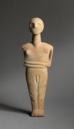 Marble male figure Date: 2400-2300 B.C. or later Early Cycladic II