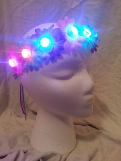 LED Daisy Headbands Rave Bra Rave Outfits Rave by PasseDesigns