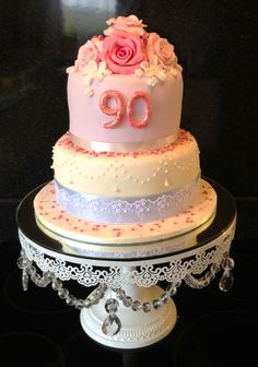 90th Birthday Cake Mother 85th Parties Grandma