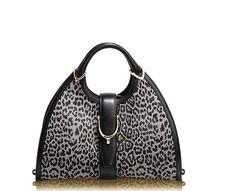 86d336b2d3 GUCCI stirrup leopard printed top handle bag Leopard Print Top
