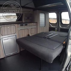 The Bliss Rock 'n' Roll bed / seat frame for Volkswagen Transporter 2003 - 2018 Volkswagen Transporter, Campervan Interior Volkswagen, Ford Transit Campervan, Volkswagen Beetles, Volkswagen Bus, Van Conversion Ford Transit, Camper Van Conversion Diy, Camper Beds, Vw Camper